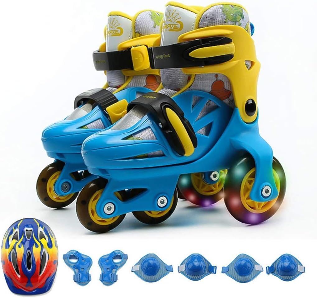 XZ15 スケート、ローラースケート、スケートのフルセット、ローラースケート、3列、通気性の子供スケート、調節可能なローラーシューズを設定します。 (Color : #3, Size : S (25-29 adjustable)) #3 S (25-29 adjustable)