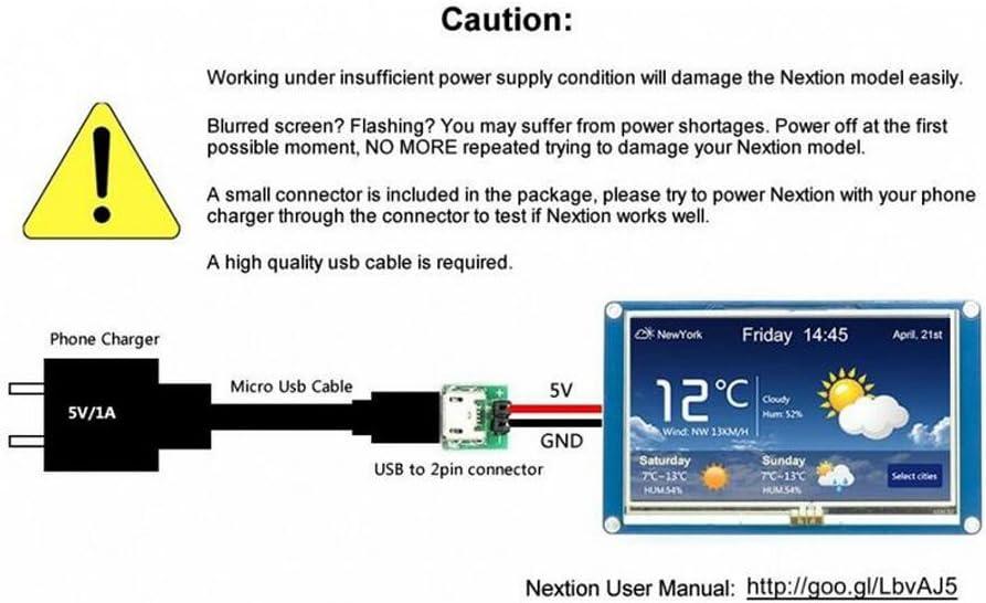 NEXTION 3.5 Display NX4832T035 Resistive Touch Screen UART HMI LCD Module 480 x 320 for Arduino Raspberry Pi