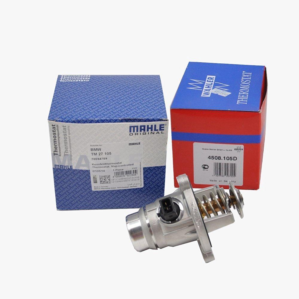 BMW Engine Thermostat + Housing + Sensor + Seal Mahle Wahler OEM 86885 WAHLER GERMANY