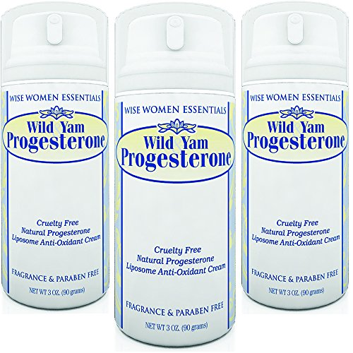 Wise Essentials Wild Yam & Progesterone Cream- Non Toxic With Chaste Tree Berry -For Menopause and Mid life Changes. 3 oz - Parabens Free -Fragrance Free - 3 OZ Pump Pack of (Wild Yam Progesterone Pump)