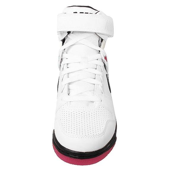 Amazon.com   Nike Women's Wmns Air Revolution Sky Hi,  WHITE/BLACK-FIREBERRY, 5.5 M US   Running