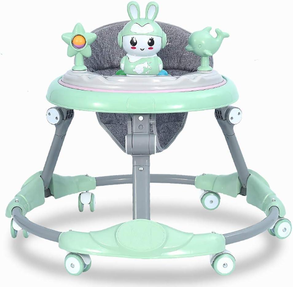 Andador de Aprendizaje Ajustable multifunci/ón Andador para ni/ños de 6 a 18 Meses Anti-O-Leg y antivuelco Yuany Trolley Baby Walker