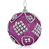 Christmas Decorations Christmas Rhinestone Glitter Baubles Balls Xmas Tree Ornament Decoration 8Cm for Christmas Holiday Years Decoration Ornaments Party