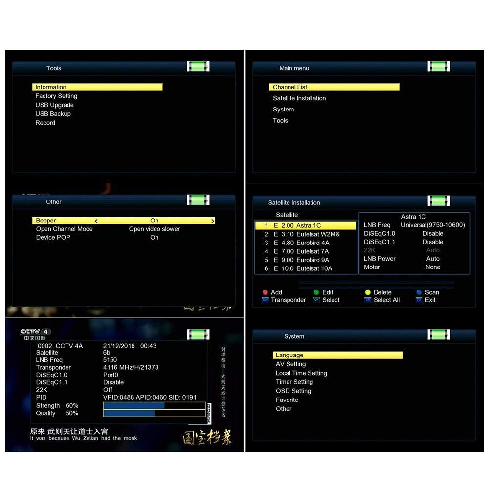 GTMEDIA V8 Satellite Finder: Amazon co uk: Electronics