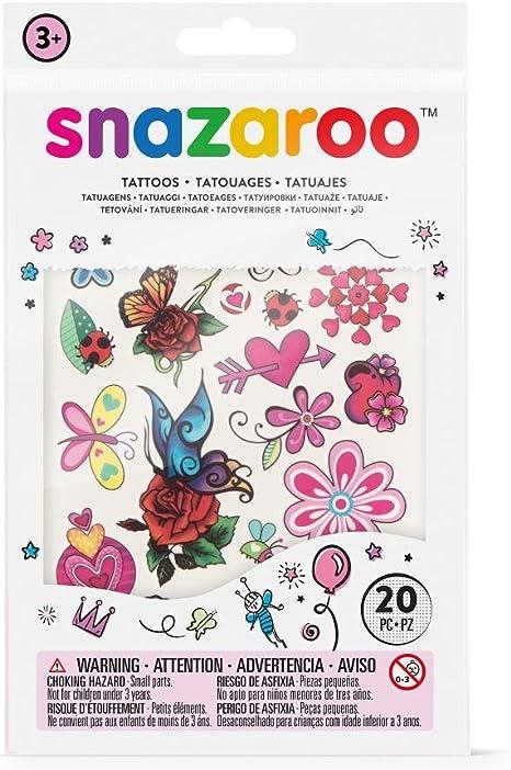 Snazaroo - Set de tatuajes temporales, fantasía: Amazon.es ...