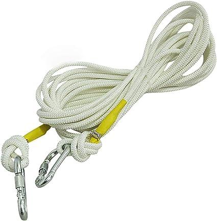 KTYXGKL Cuerda de escalada blanca de 9 mm, formación de ...