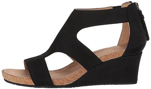 Adrienne Vittadini Womens ricia Open Toe Casual Platform Black Size 80