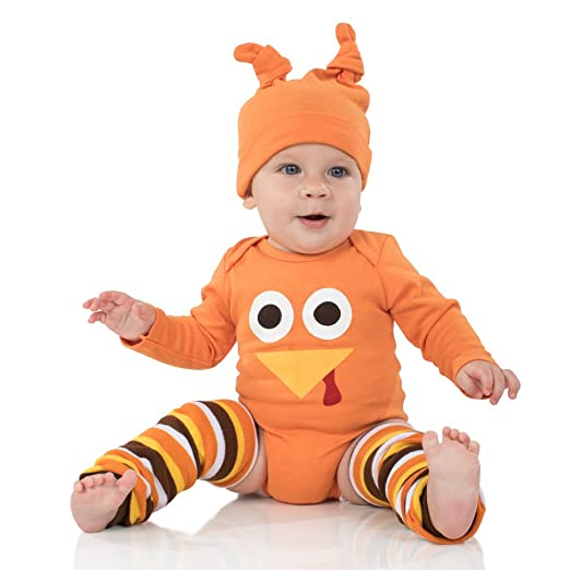 juDanzy Halloween & Christmas Baby Gift Box outfit set (0-3 Months, Tom Turkey)