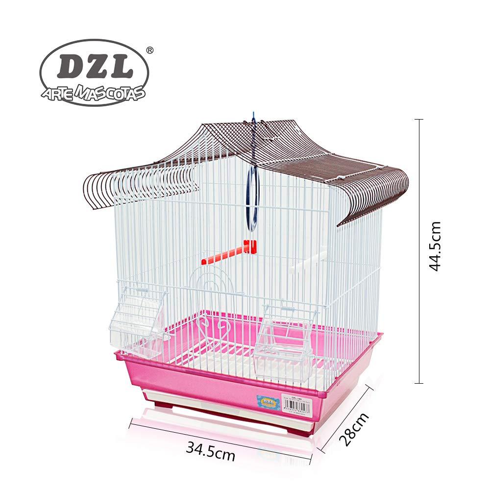 DZL Jaula Ideal para Aves pequeñas Incluye: -Bebedero -Comedero ...