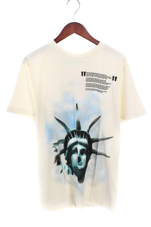 (オフホワイト) OFF-WHITE 【18AW】【WHITE LIBERTY S/S T-SHIRT】リバティープリントTシャツ(M/ホワイト) B07FQQGW48  -