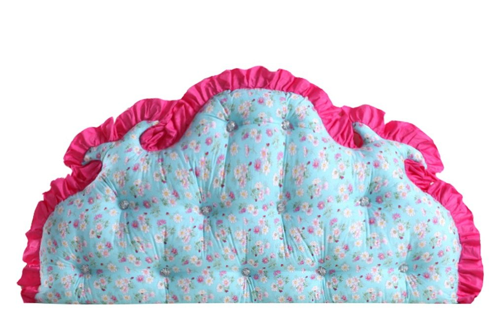 Stuffed Ruffle Floral Wedge Cushion Bed Backrest LivebyCare Sofa Back Positioning Support Reading Pillows Home Office Lumbar Pad with Removable Cotton Cover