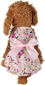 Handfly Cute Pet Puppy Dog Floral Bowknot Tutu Dress Skirt Princess Dress Costume Clothes Apparel Small Dog summer Tutu Dress Skirt Clothes