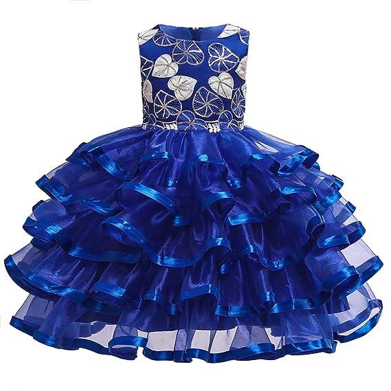 Baiomawzh Vestidos De Princesa Fiesta Cóctel de la Boda de Las Niñas ...