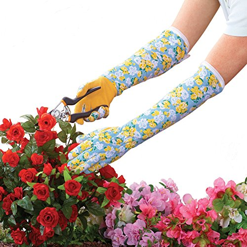 Long Sleeve Floral Garden Gloves