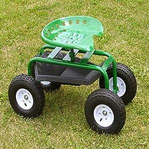 Amazoncom Mid West Garden Caddy Tractor Seat on Wheels Yard