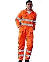 Yoko Combinaison haute visibilité en polycoton pour homme vêtements de travail Castle Clothing Bleu de travail pour homme