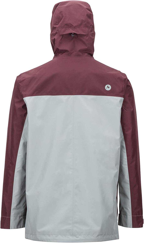 Marmot Wend Jacket, uomo, giacca impermeabile, gaccia a vento, pioggia, Hardshell, antivento, impermeabile, traspirante Grey Storm/Burgundy