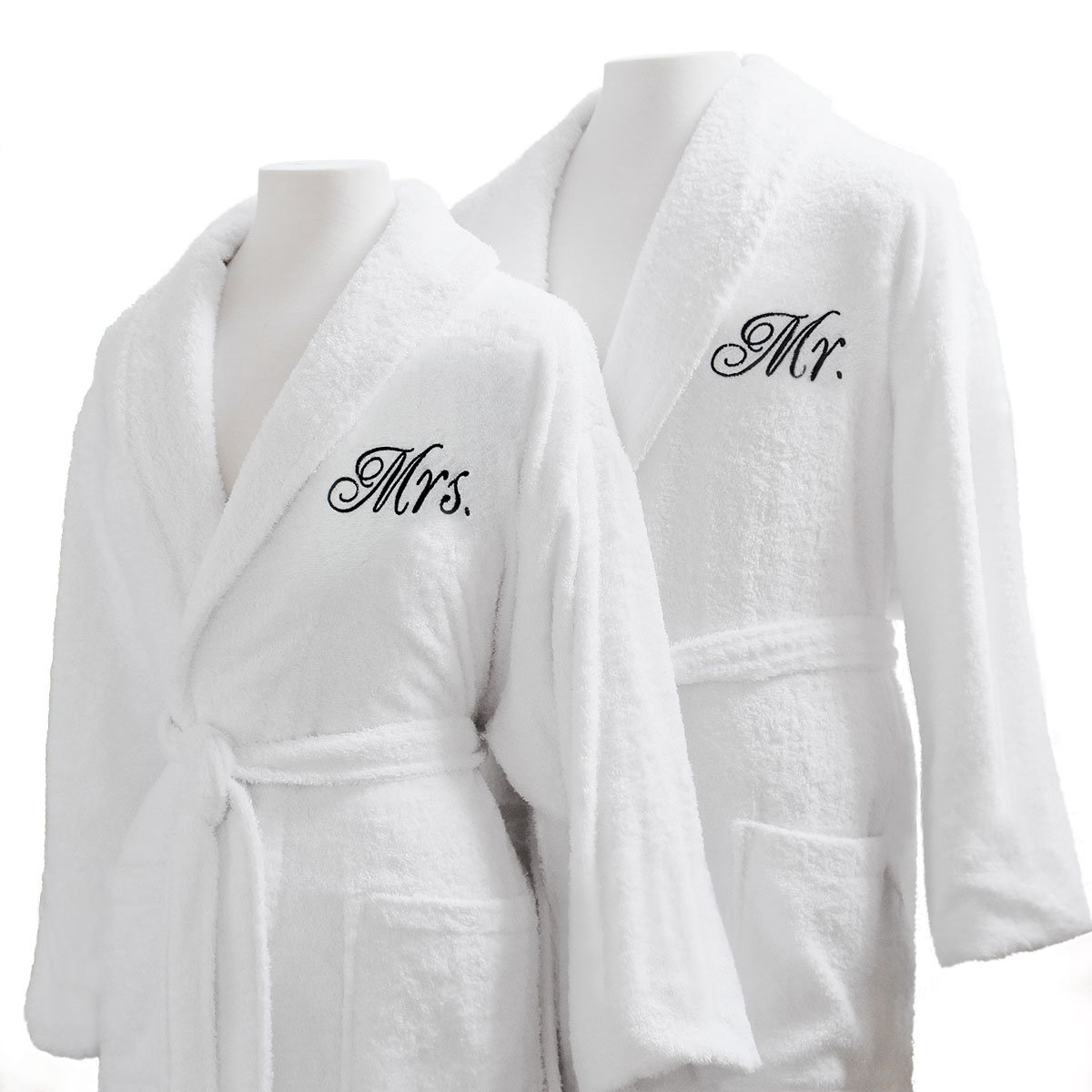 Luxor Linens - Terry Cloth Bathrobes - 100% Egyptian Cotton Mr.& Mrs. Bathrobe Set - Luxurious, Soft, Plush Durable Set of Robes