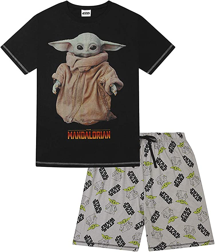 Star Wars Pijama corto de algodón para niños, diseño de The Mandalorian The Child