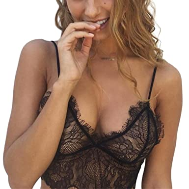 1b14d0ef3 XY Fancy Women Sexy Bra Translucent Hollow out Lace Bra Sleepwear for Sex  Game Flirting Lingerie  Amazon.co.uk  Clothing