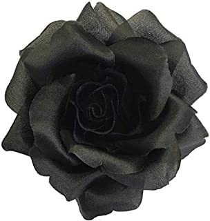 product image for Silk Rose Fabric Flower Pin Brooch - Hand-made in New York's Garment Center (American Made)