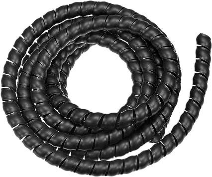 Schwarz 6mm x 4mm Fleaxible PU pneumatische Schlauch 14,5 M Rohrlänge
