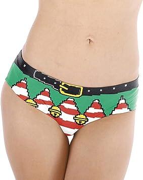 Navidad Ropa Interior De Mujer Sexy Divertido Impresión Bragas ...