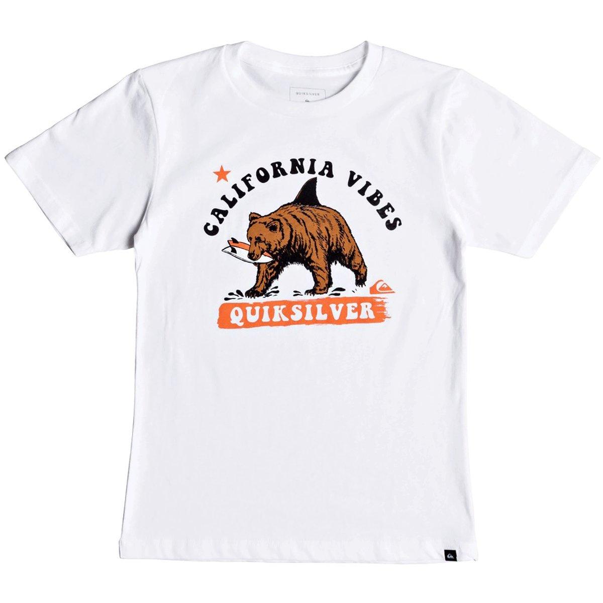 Quiksilver Boys' Big CALI Bear Shark Youth TEE Shirt, Black, L/14