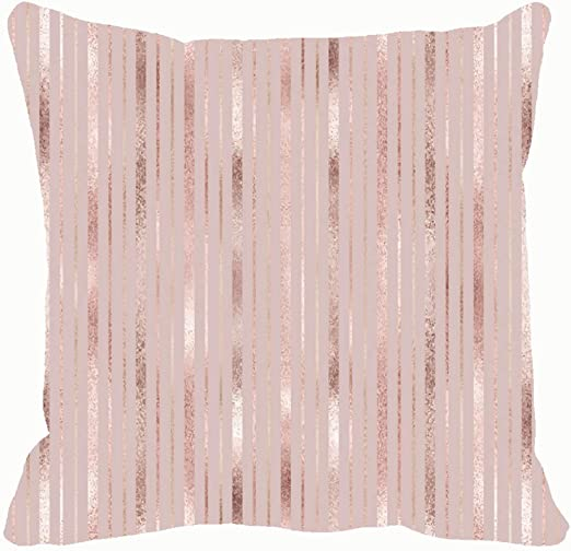 Pink Geometric Pillow Case Polyester Cushion Cover Decorative Home Throw Pillows