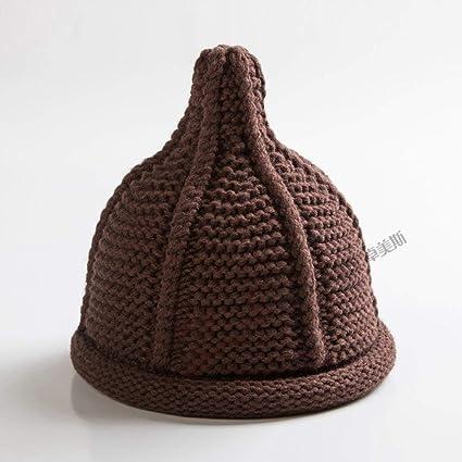 SHMAYU Hombres y mujeres línea de lana sombrero puntiagudo gorro ...