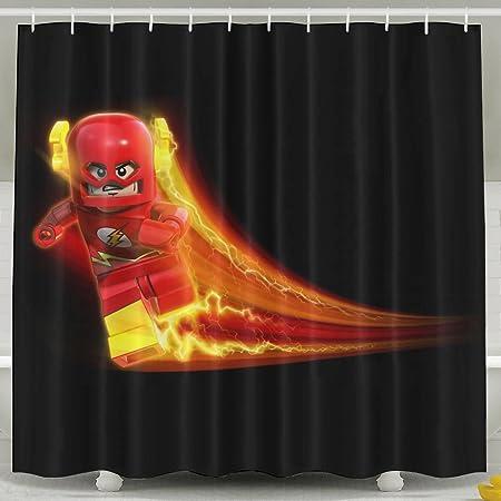 AoDa8 The Flash Cartoon Shower Curtain Amazoncouk Kitchen Home