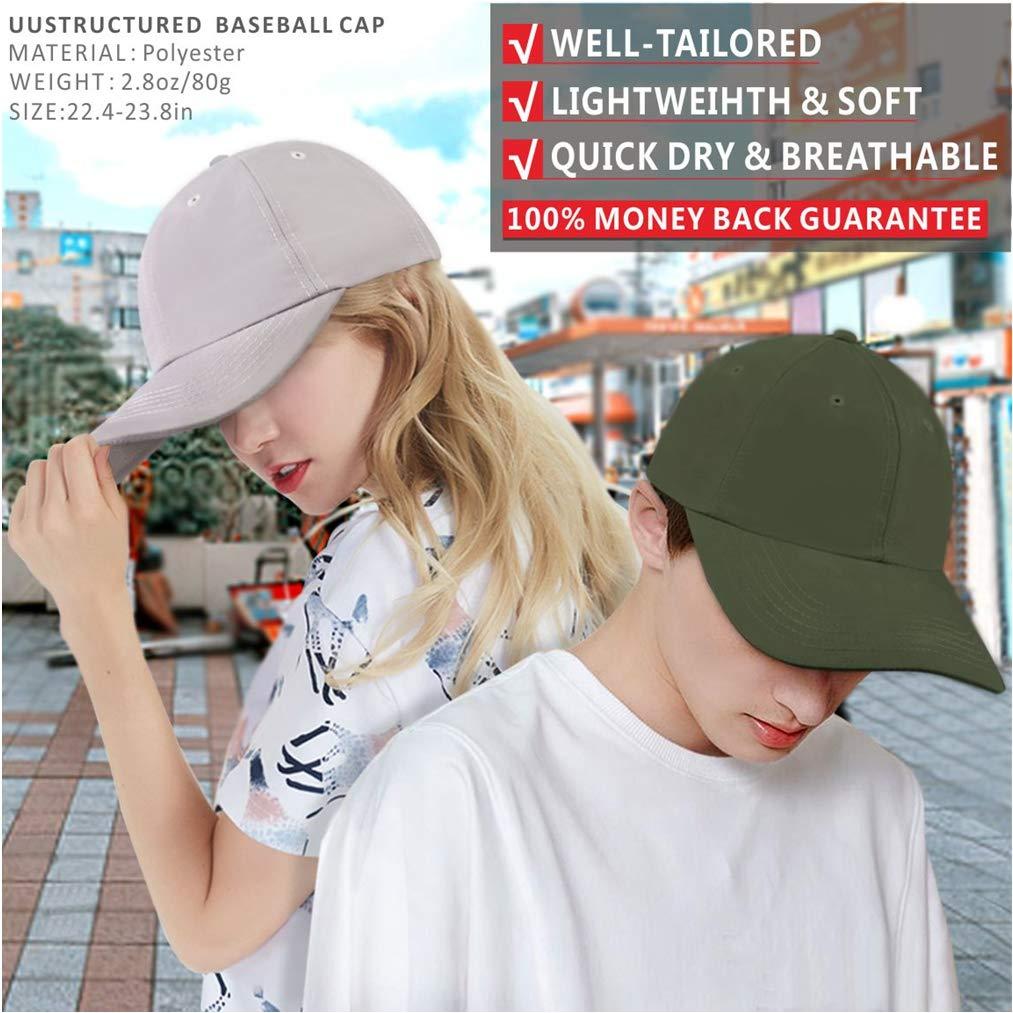 d4014e4e6ab03c Amazon.com: Quivk Dry Dad hat Summer Polo Baseball Cap Mens Outdoor Running  Run Sports Sport Hats Cool UV Sun Caps Light Breathable Travel Golf  Unstructured ...