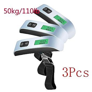 SHENGY Balanza de Equipaje de Viaje Digital ABS de 10 g a 50 kg, Evita Que el Equipaje del Aeropuerto ...