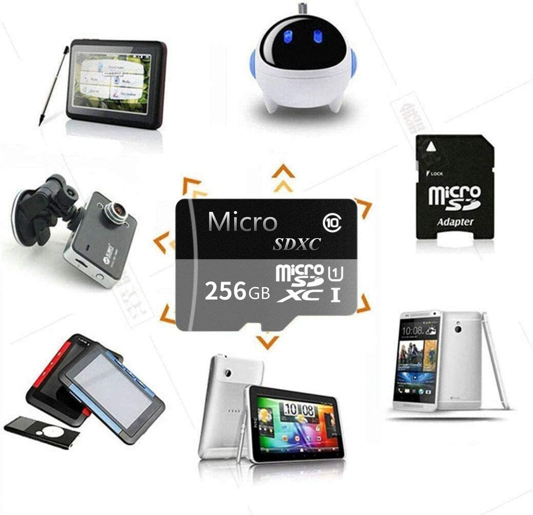 256GB Micro SD Card SDXC Memory Card High Speed Class 10 Designed for Android Smartphones Tablets with Adapter