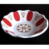 6er Set - Klassische Teeglas Unterteller aus Melamin ROT - Cay tabagi