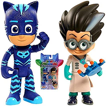"Pj Masks Catboy & Romeo Figures Two Pack 3"" New Cartoon Release"