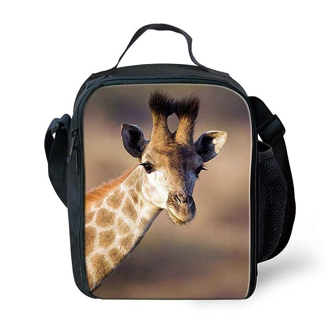 688721b25d2a Amazon.com: Amzbeauty Giraffe Lunch Bag for Kids 3D Print Reusable ...