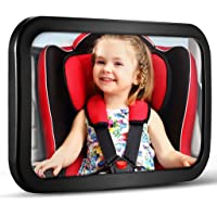 Baby Car Mirror, DARVIQS Car Seat Mirror, Safely Monitor Infant Child in Rear Facing Car Seat, Wide View Shatterproof…