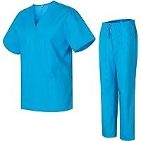 Uniformes Uno Médico Unisex con Casaca y Pantalones Sanitarios 301-501