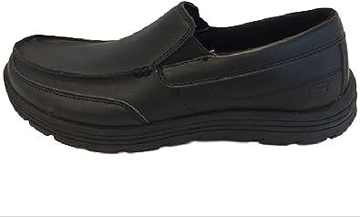 Skechers for Work Mens Hobbes Relaxed-Fit Slip-Resistant Work Shoe
