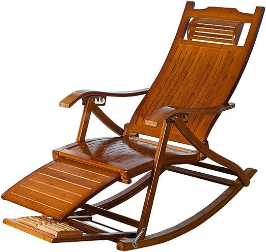 Vintage Silla Mecedora Muebles de jardín al Aire Libre Tumbonas Plegables Sillas de Cubierta Silla de jardín reclinable Sillas de Gravedad Cero Sillón reclinable para relajación: Amazon.es: Hogar