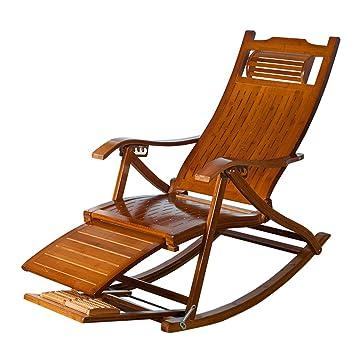 LHNLY-Inclinable Vintage Chaise à Bascule Meubles de Jardin ...