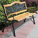 Hardwood Garden Furniture Patio Park Garden Bench Porch Path Chair Furniture Cast Iron Hardwood New