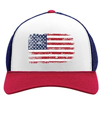4th of july vintage distressed usa flag american patriot trucker hat