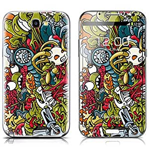 AES - SX-091 Monster Design Front and Back Protector Stickers for Samsung Note 2 N7100