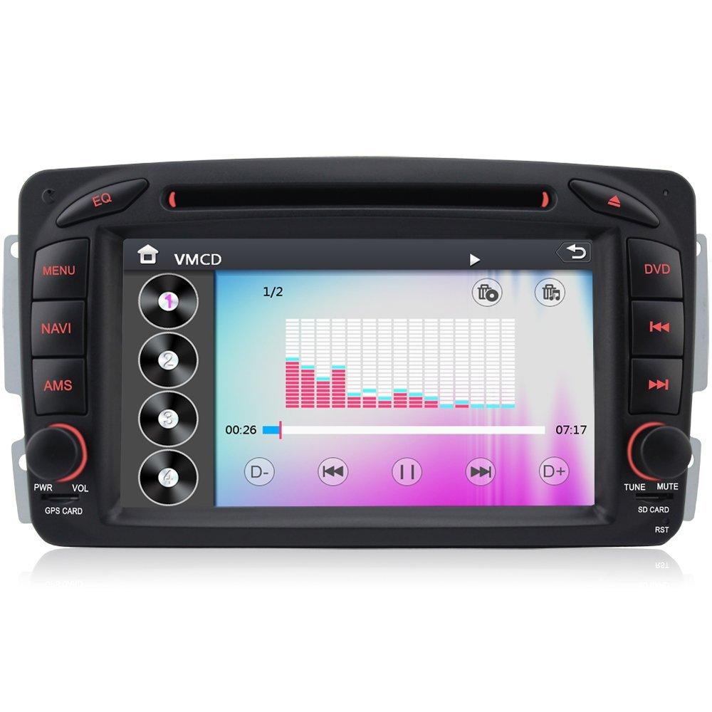 A de Sure 7 Pulgadas Sat Navi DVD GPS Bluetooth vmcd RDS para Mercedes Benz C Class CLK/G W203 W209 Viano Vito W639 W463: Amazon.es: Electrónica
