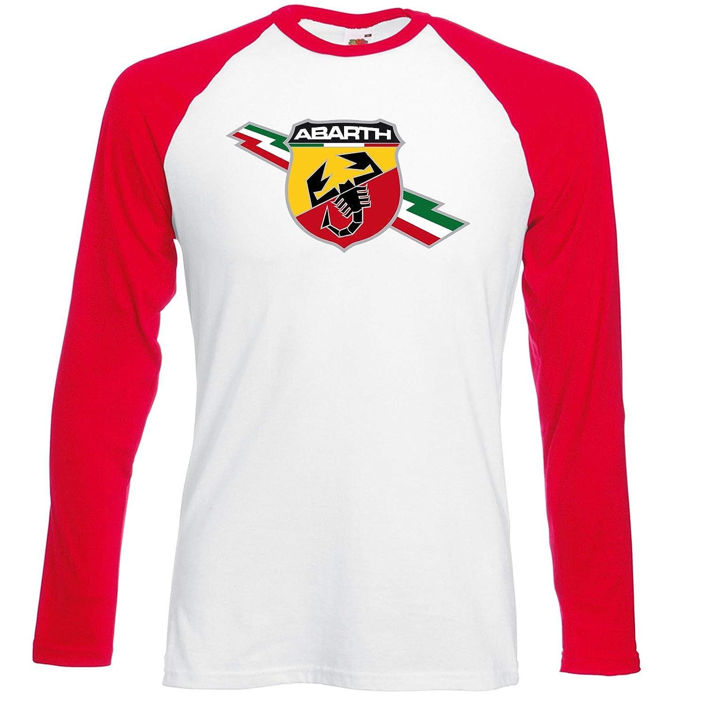 Camiseta Manga Larga T-Shirt Deportiva Hombre Abarth 500 Fiat Team ...