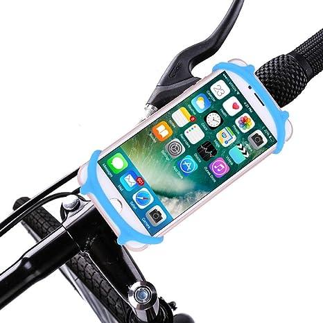 Soporte movil Bici,Bicicleta Soporte para teléfono móvil de Bicicleta multifunción teléfono móvil Anti-vibración Coche Soporte Azul: Amazon.es: Deportes y aire libre