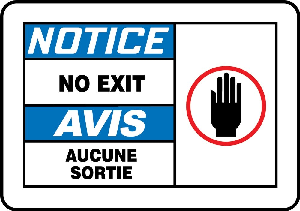 Accuform NOTICE-NO EXIT (BILINGUAL FRENCH) (FBMADC842MXP)