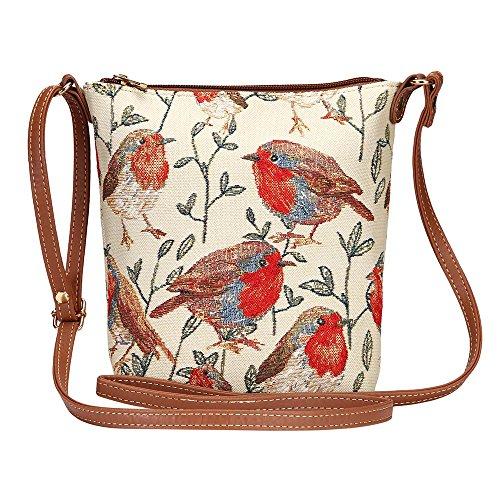 Satchel Lightweight Sling Bag Women Signare Body Robin Cross New Tapestry 0qw7CIx
